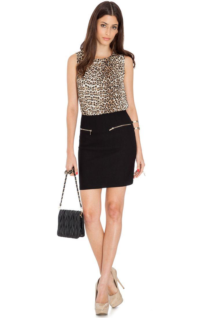 LEOPARD PRINT ZIP FRONT DRESS #leopardprint #citygoddess #citygoddesswholesale #wholesale #casualdress #dress #fashion