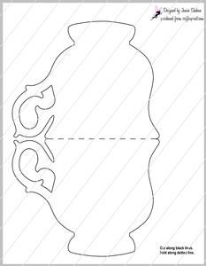 Teacup Tea Cup Shaped Card Template on Craftsuprint - View Now!