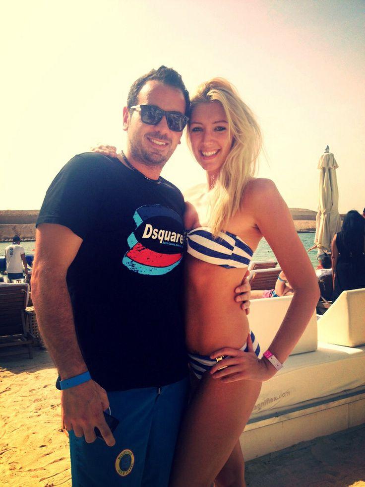 Rami and Rich posing at Blue Marlin