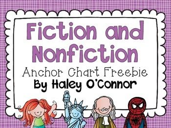 """FREE """"Fiction and Nonfiction"""" Anchor Charts!  LOVE THESE!!..... Follow for Free """"too-neat-not-to-keep"""" teaching tools & other fun stuff :)"""