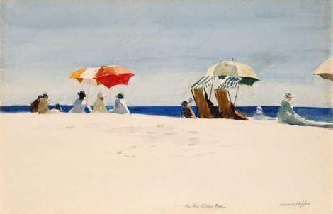 Edward Hopper, Gloucester Beach, Bass Rocks 1924 on ArtStack #edward-hopper #art