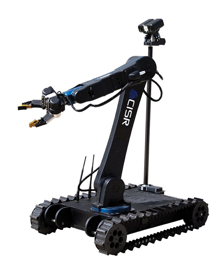 The Oztouch robot from Ozbotix has an arm and gripper with haptic feedback and stereo vision.