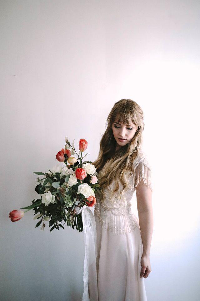 Xan's Eye Wedding Photography - North Carolina - Green Bee Floral Design - Wedding Photography - Lace Wedding Dress - Stunning Floral Bridal Bouquets