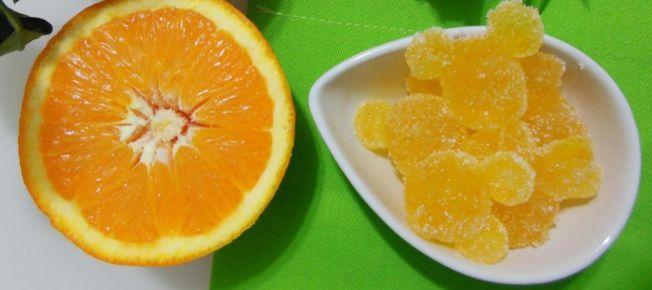 Caramelle gelèe all'arancia - Ricetta dolce
