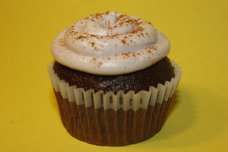 ...Hot Chocolate Cupcake with Raspberry Cream Frosting :)