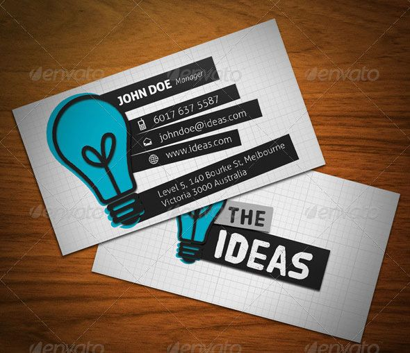 15 typography business card templates card designsbusiness ideasbusiness - Graphic Design Business Ideas