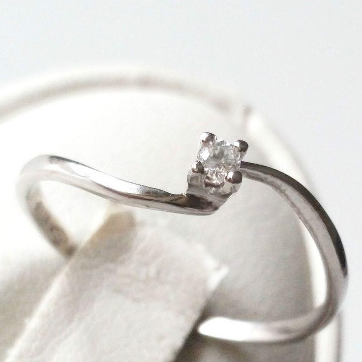 Anello Fidanzamento Solitario Oro 18kt 750  con Diamante Naturale 0,04CT G-H VVS