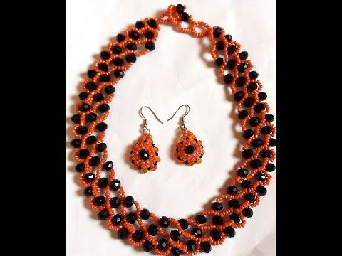 Flatron beaded necklace tutorial - YouTube