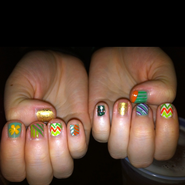 26 best tiger lily nail art images on pinterest nail scissors re do of ranas hot nails for st pattys tigerlilynailartgmail prinsesfo Image collections