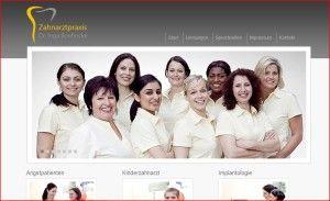 Webseite Zahnaerztin Bremen