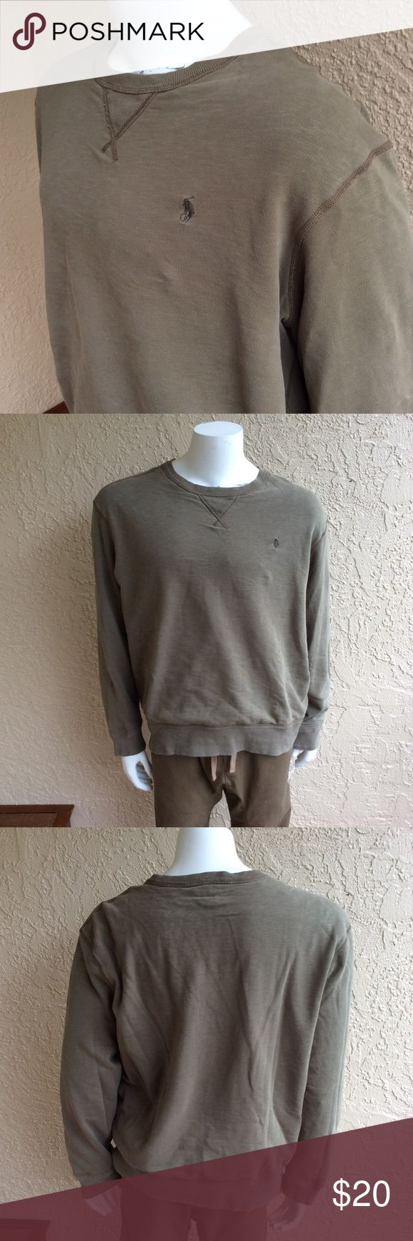 Yeezy style polo crew neck Super dope Ralph Lauren style sweater! It looks and would match a pair of yeezys perfectly has that baggy earth tone feel! High quality sweater Polo by Ralph Lauren Sweaters Crewneck