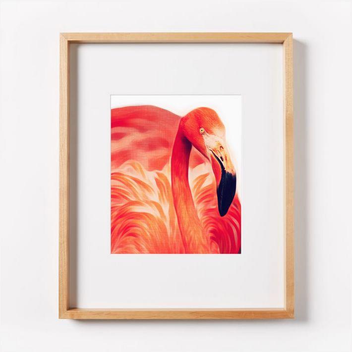 Set of 8 flamingos / tropical wall art printables