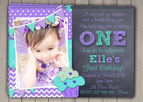 First Birthday Invitation Printable Download 1st Birthday Invitation