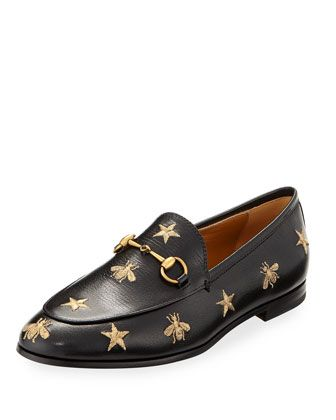 0174a4d2076a Jordaan+Star+ +Bee+Leather+Loafer+by+Gucci+at+Bergdorf+Goodman ...
