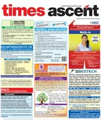 Times Ascent Ad Rates. Times of India Newspaper Recruitment Advertisement Feature