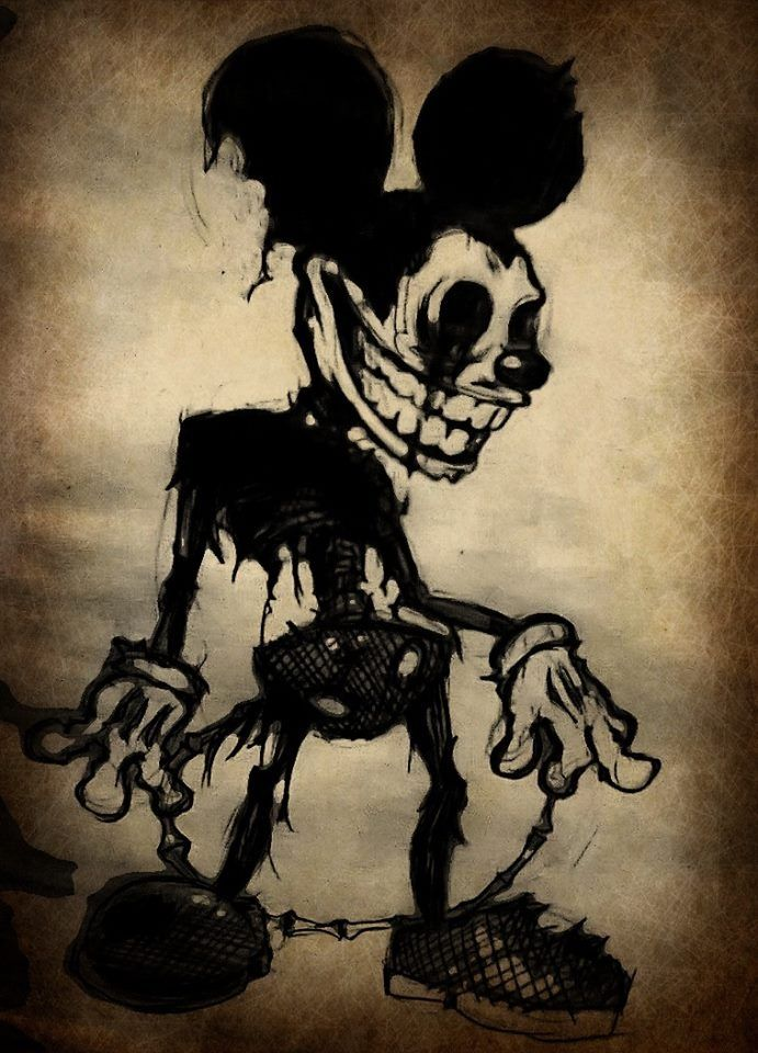 8 Disturbing Cartoon Characters : Disney creepy mickey mouse pinterest