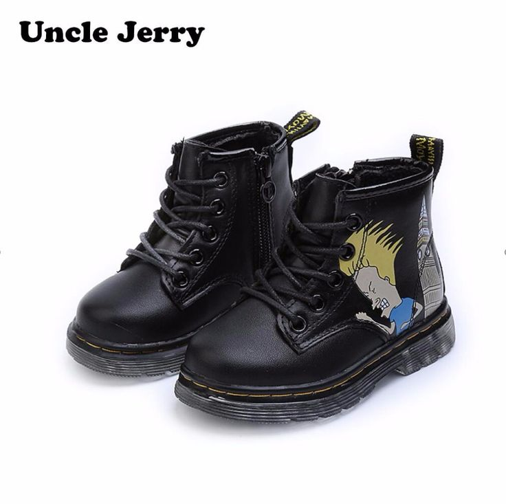 UncleJerry Boys Girls Genuine Leather fashion boots Kids anti-slip boots Children casual shoes cartoon toddler winter boots. Yesterday's price: US $31.20 (25.56 EUR). Today's price: US $18.41 (15.22 EUR). Discount: 41%.