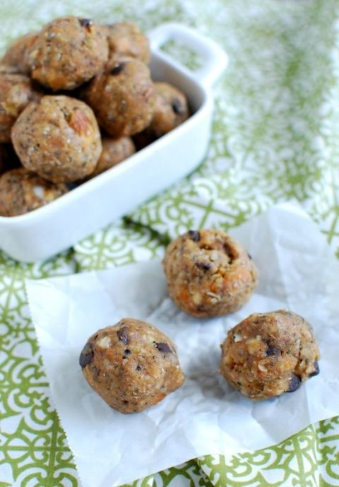 Make a batch of these Sweet Potato Energy Bites to snack on when hunger strikes. They're healthy, simple and made with real ingredients.