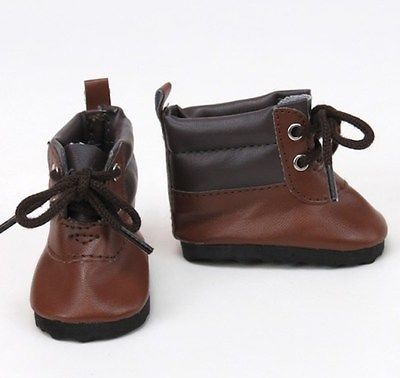 18 inch Girl Boy Doll Clothes Shoes Boots Brown Hiking Tie American seller NEW