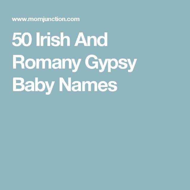 50 Irish And Romany Gypsy Baby Names Names Irish Boy