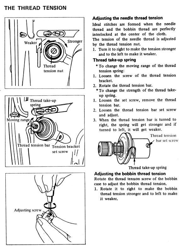 Juki 227 552 553 555 Sewing Machine Threading Diagram