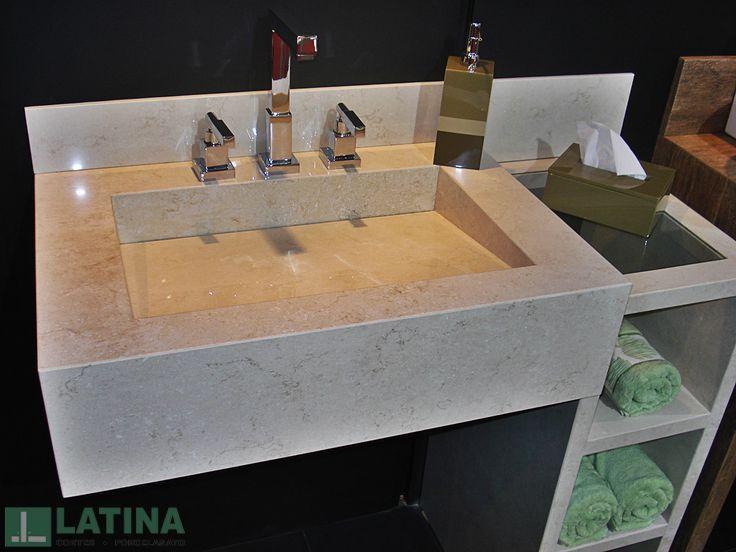 Más de 1000 ideas sobre Bancada De Porcelanato en Pinterest  Porcelanato, Cu -> Onde Comprar Cuba Para Banheiro Barata