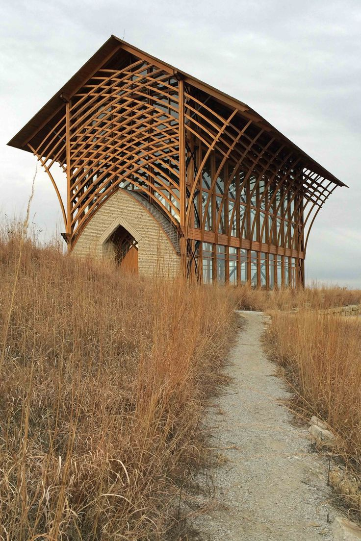 Shrine of The Holy Family. Inspired by E. Fay Jones' Thornecrown chapel (1980) in Arkansas.