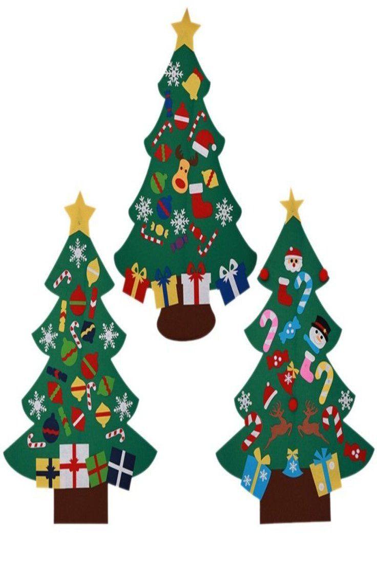 9.74   Kids Felt Christmas Tree with Ornaments Xmas Gift DIY Door ...