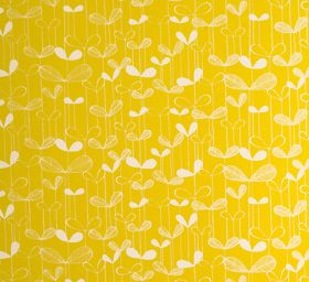 'Saplings Wallpaper in Sunflower Yellow with White' by MissPrint