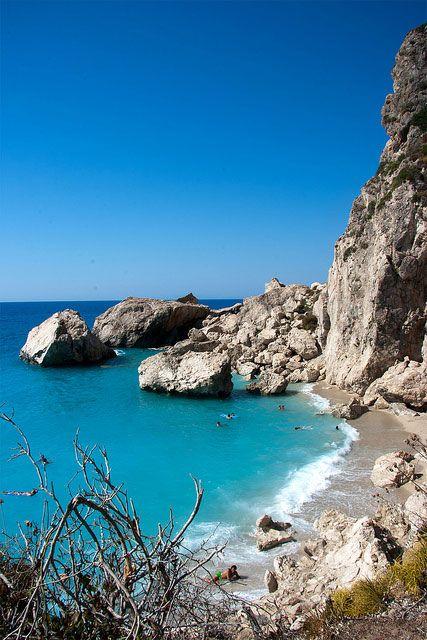 Lefkada Beaches, Kathisma Beach. | travelovergreece