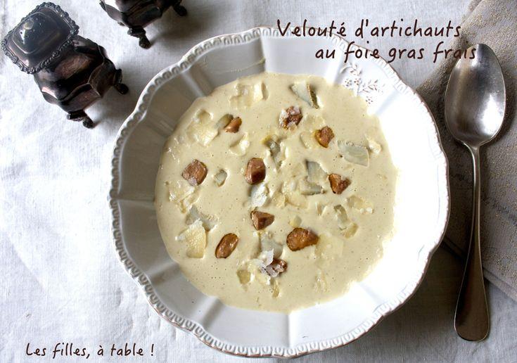 Velouté de fonds d'artichaut et foie gras frais