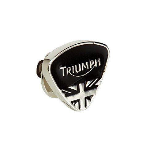 Triumph Black Triangle Pin Badge (MPBS14297) #MartinMoto #Triumph #motorcycle #pin