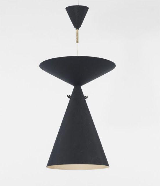 Hans Bergström, aluminum pendant lamp, Sweden, 1965