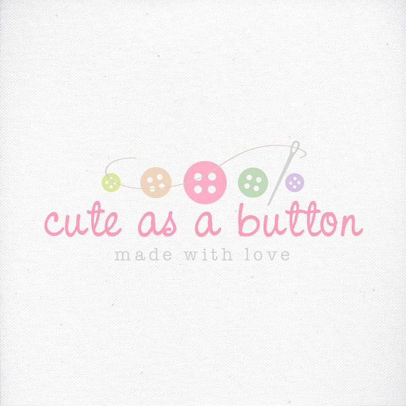 Baby Clothing Shop Logo Custom Logo Design with Sewing by LogoLove, $17.00