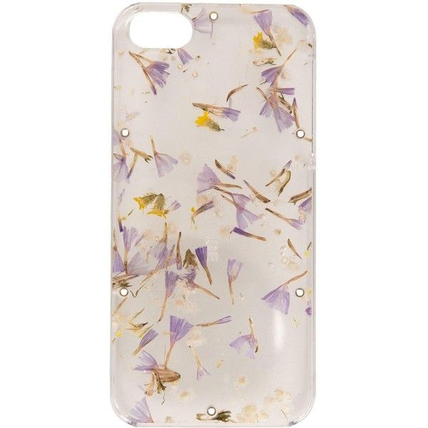 Anrealage pressed flower iPhone 5S/SE case ($65) ❤ liked on Polyvore featuring men's fashion, men's accessories, men's tech accessories and nude