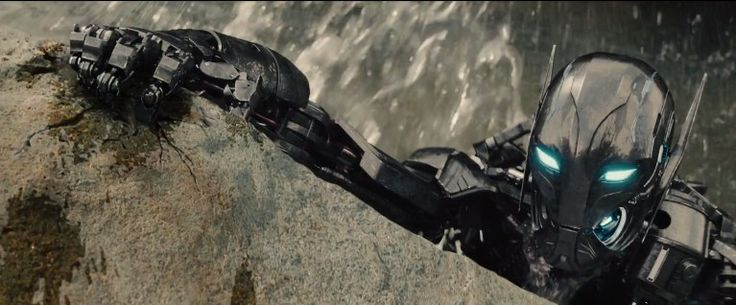 Shot-By-Shot Breakdown Of Avengers 2 Trailer Reveals Spoilery Details:  The first of Ultron's minions climbs out of a river. Many more follow. Presumably these creatures were being built in the factory