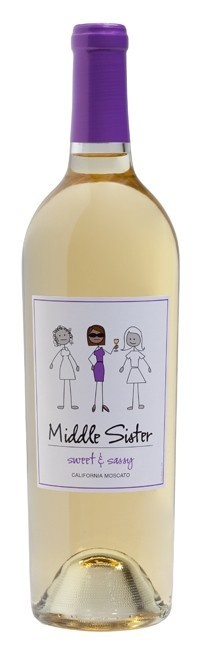 Middle Sister Wine! Mmmm ... just came out with a Bubbly Sparkling White, Glamour Girl!  The BEST yet!!!