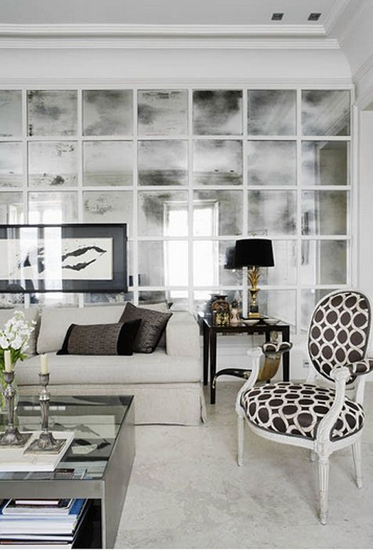 Mirrors on the back of the sofa