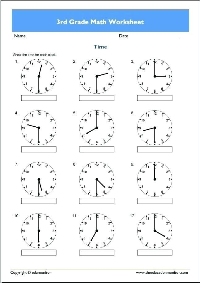 30 3rd Grade Clock Worksheets In 2020 With Images Fractions