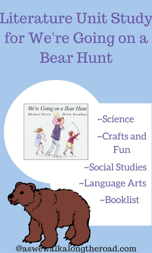 In this literature unit studies post, I'm sharing ideas for using We're Going on a Bear Hunt. Find science, social studies, crafts, and more.