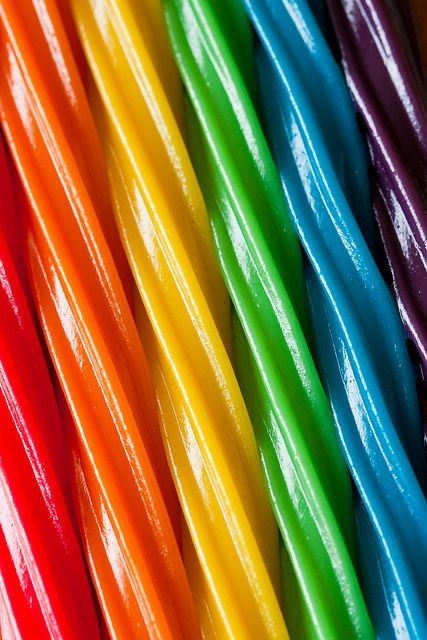 Licorice rainbow! http://www.candy.com/Assorted-Extra-Thick-and-Extra-Long-Filled-Maxi-Color-Licorice-Sticks-60-Count-Tub_p_19778.html