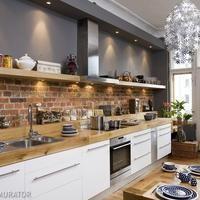 Aranżacje kuchni: cegła we wnętrzu zdjęcia
