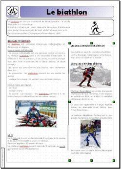 Les jeux olympiques de Sotchi (3) Fiches documentaires sur les différentes disciplines olympiques d'hiver. Merci Sage!