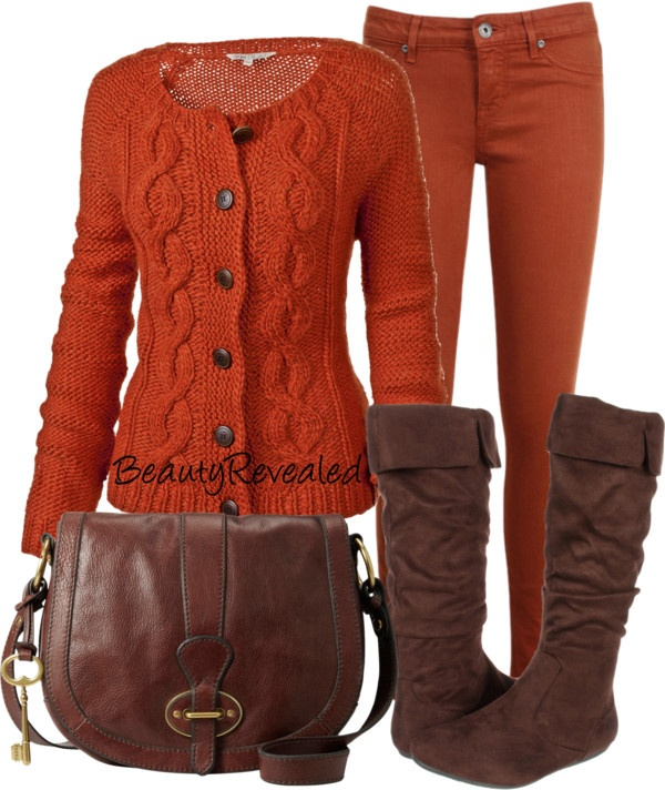 """Fall brown"" by nicuta-romina on Polyvore"