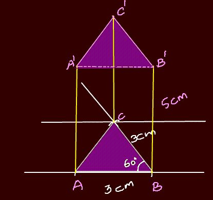 how to make a triangular prism with cardboard