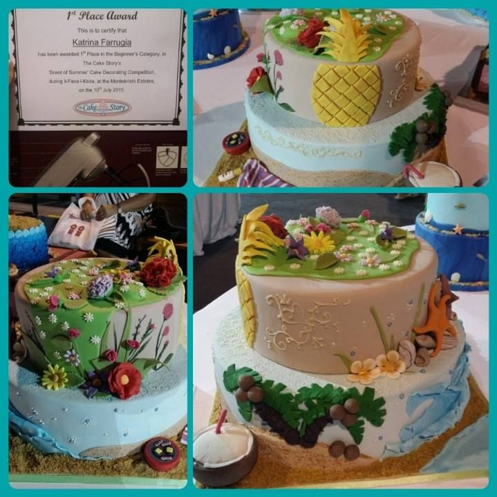 The Scent of Summer - Cake Decorating Competition awarded 1st Place!