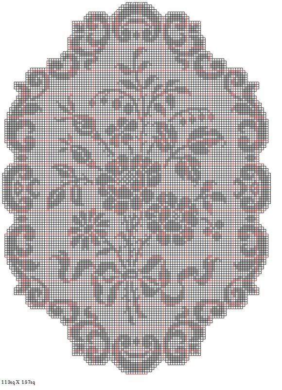 Free Crochet Patterns to Download | Just Mousing Around ~ Digital Filet Crochet Sampler