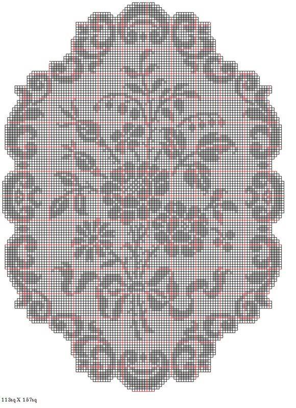 crochet cat filet patterns