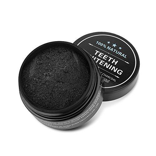 Poudre De Blanchiment Des Dents Les Dents au charbon actif Activated Charcoal Teeth Whitening Powder: Contenant de l'ingrédient de…