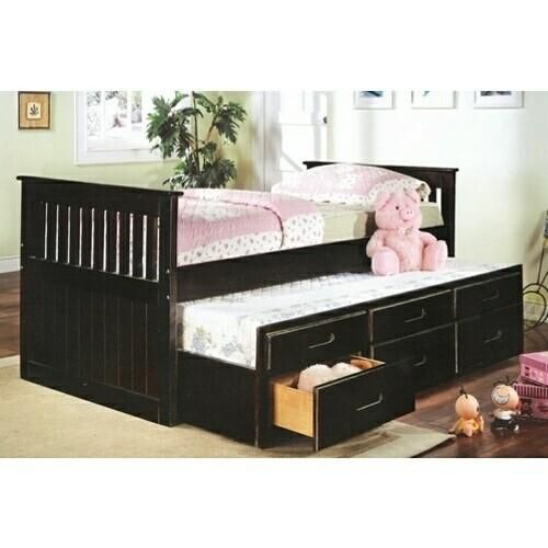 mission style trundle bed 2